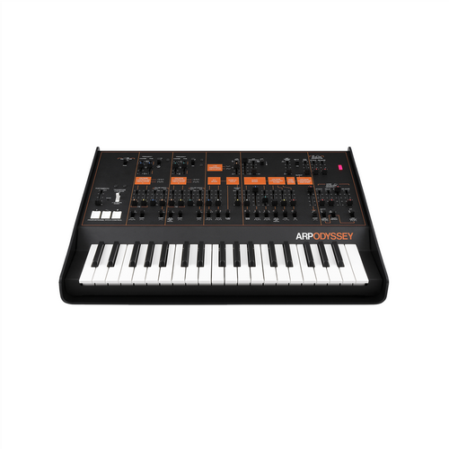 Korg Arp Odyssey Synth Duophonic Analog Synthesizer Rev3 Black and Orange Panel Inc Carry Case